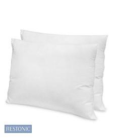 Restonic 2 Pack Hotel Quality Gel Fiber Pillow