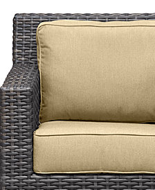 Viewport Outdoor Wicker Swivel Glider Replacement Sunbrella® Cushion, Quick Ship