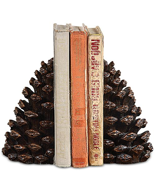 3R Studio Pinecone Resin Bookends, Set of 2