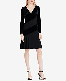 Lauren Ralph Lauren Velvet Fit & Flare Dress