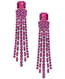 kate spade new york Hematite-Tone Crystal Chain Fringe Chandelier Earrings