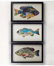 Two's Company Plenty of Fish in the Sea Wall Art, Set of 3