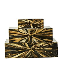 Two's Company Wood Boxes, Set of 3