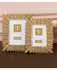 Vouvant Set of 2 Gold Leaf Photo Frames Includes 2 Sizes