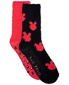 Planet Sox 2-Pk. Mickey Mouse Fuzzy Plush Socks