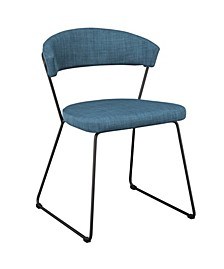 Adria Dining Chair Blue-Set Of Two