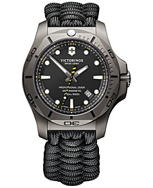 Men's Swiss I.N.O.X. Professional Diver Black Paracord Strap Watch 45mm