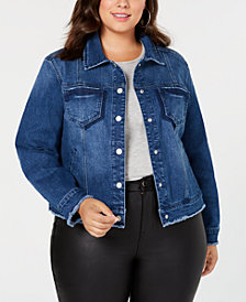 Seven7 Jeans Trendy Plus Size Denim Trucker Jacket