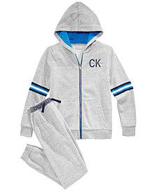 Calvin Klein Big Boys Zip-Up Hoodie & Sweat Pants Separates