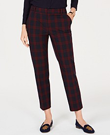 Plaid Slim-Leg Ankle Pants, Created for Macy's