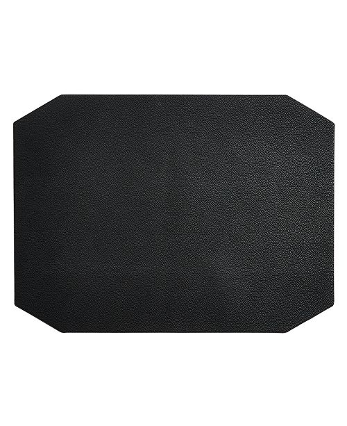 Hotel Collection Black Faux Leather Placemat