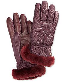 UGG® Shearling-Trim Touchscreen Gloves