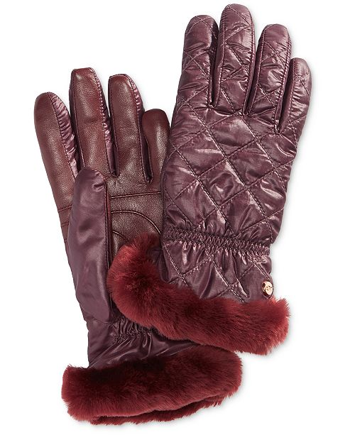 36b3e795753d2 UGG® Shearling-Trim Touchscreen Gloves   Reviews - Handbags ...