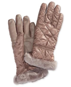 Ugg Gloves SHEARLING-TRIM TOUCHSCREEN GLOVES