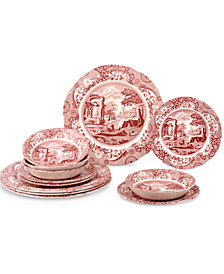 Spode Cranberry Italian 12 Piece Set