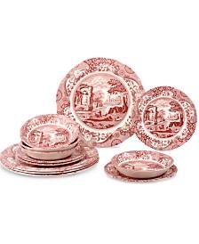 Spode Cranberry Italian 12 Piece Set