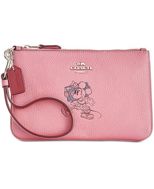 3d94036c41f4 COACH Minnie Mouse Motif Boxed Wristlet in Pebble Leather   Reviews ...