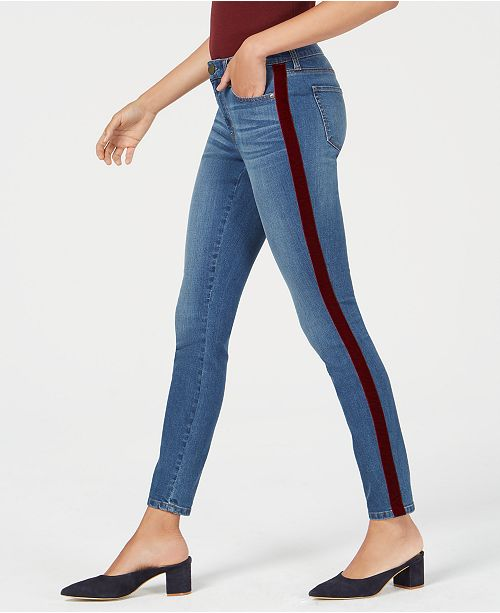 1bf29077c536 Maison Jules Side-Stripe Skinny Jeans, Created for Macy's & Reviews ...