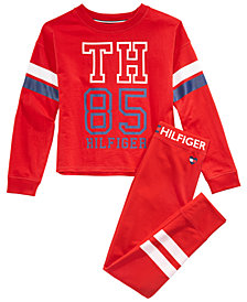Tommy Hilfiger Big Girls Logo Sweatshirt & Stripe Sweatpants