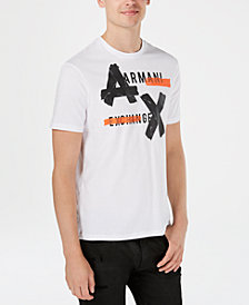 A|X Armani Exchange Men's Oversized Taped Logo T-Shirt