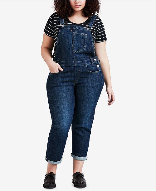 Levi\'s Plus Size Denim Overalls & Reviews - Jeans - Plus Sizes - Macy\'s