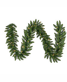 9' Camdon Fir Artificial Christmas Garland with 50 Clear Lights