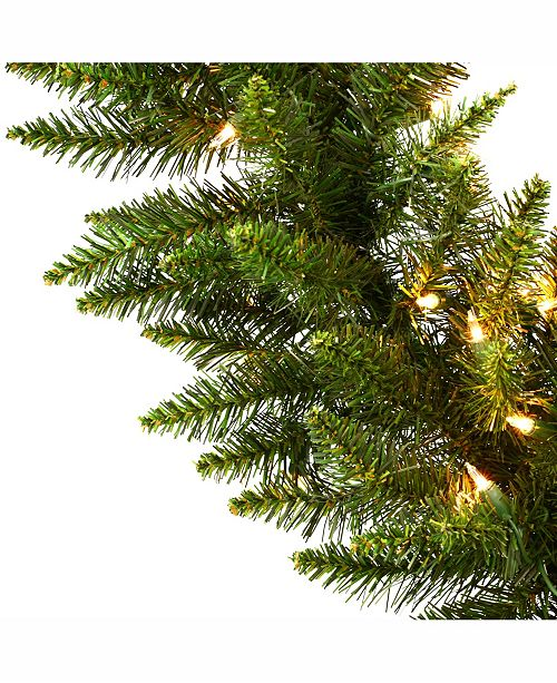 vickerman 9 camdon fir artificial christmas garland with 100 clear lights all holiday lane home macys - Christmas Garland Sale