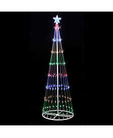 6' Christmas Show Tree with 200 Multi-Colored LED Lights