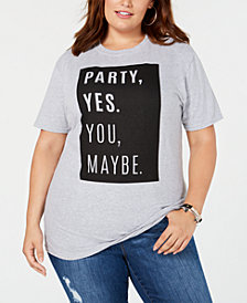 Hybrid Plus Size Party Yes T-Shirt