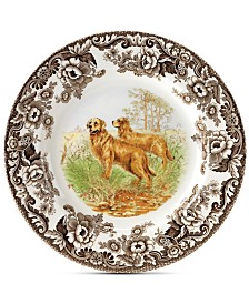 Spode Woodland Golden Retriever Dinner Plate