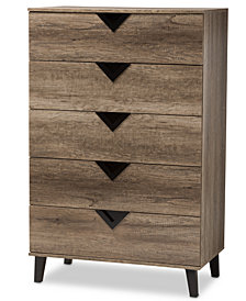 Wales 5-Drawer Chest, Quick Ship