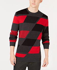 Men's Abstract Colorblocked Sweater, Created for Macy's