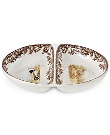 Spode Woodland Bird Divided Dish