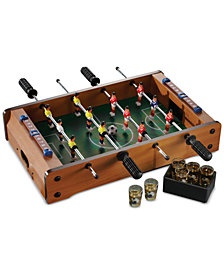 Jay Imports Foosball Table Game with 6 Shot Glasses