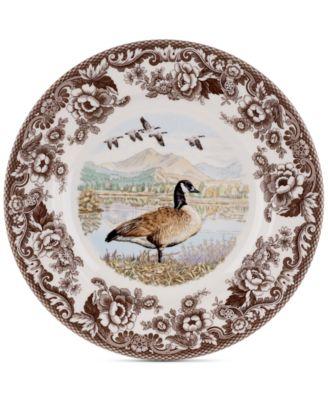 Woodland Canada Goose Dinner Plate