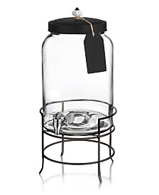 Jay Imports Franklin 3-Gallon Beverage Dispenser with Tag & Stand