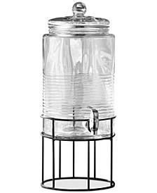 Covina 250-Oz. Beverage Dispenser with Metal Stand