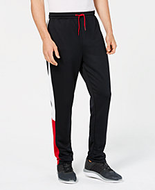 ID Ideology Men's Terry Colorblocked Tapered Pants, Created for Macy's