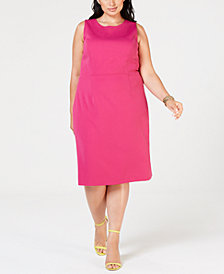 Betsey Johnson Plus Size Scuba Sheath Dress