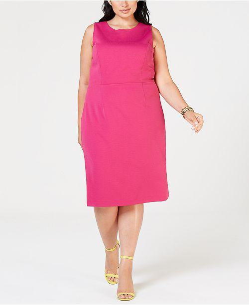 Betsey Johnson Plus Size Scuba Sheath Dress Dresses Women Macys