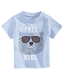 First Impressions Baby Boys Free Hugs Cotton T-Shirt, Created for Macy's