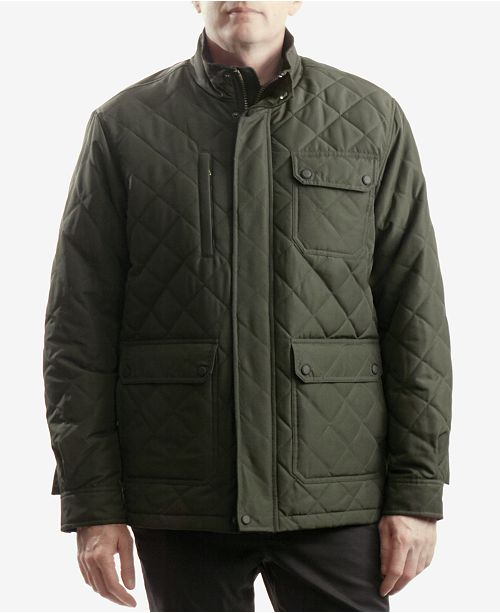 3748df945 Outfitter Men's Cavell Diamond Quilted Filed Coat; Hawke & Co. Outfitter  Men's Cavell Diamond Quilted Filed ...