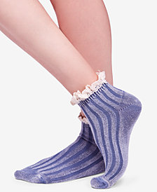 Free People Fade Out Striped Ankle Socks