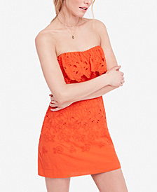 Free People Morning Dove Cotton Mini Dress