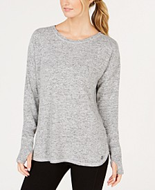 Heathered Long Sleeve Top, Created for Macy's