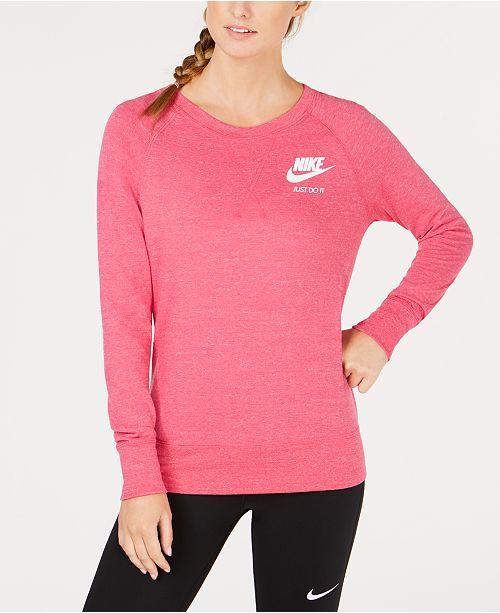 e29b22df75da Nike Sportswear Gym Vintage Crew Sweatshirt   Reviews - Tops - Women ...