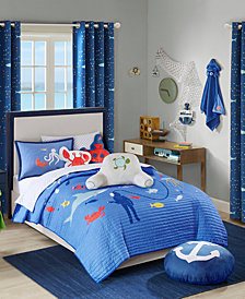 Urban Dreams Ocean Adventures Twin 2-Pc. Quilt Mini Set, Created for Macy's
