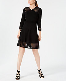 Calvin Klein Petite Illusion A-Line Dress