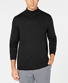 Tasso Elba Men's Merino Wool Turtleneck Sweater, Created for Macy's