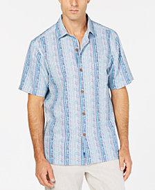 Tommy Bahama Men's Tracks to Paradise Silk Camp Shirt